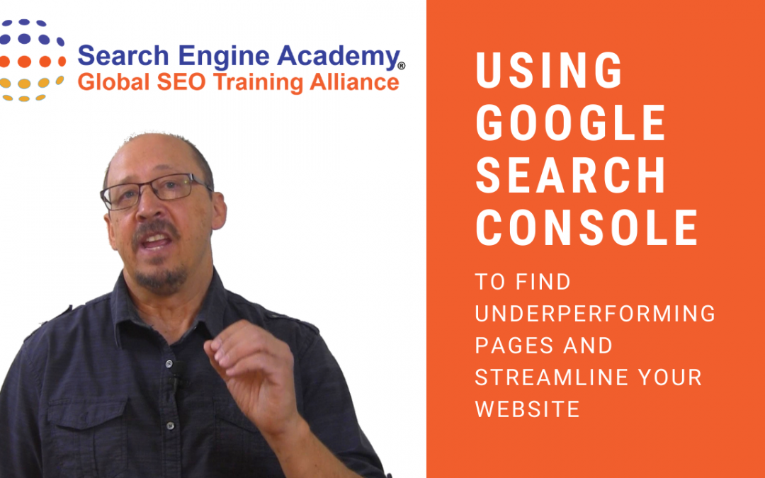 Video: Using Google Search Console to find Non-Performing Website Pages