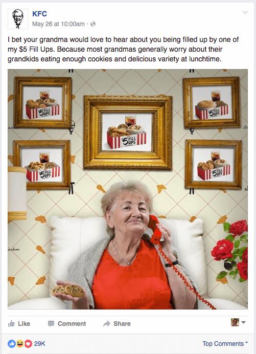 KFC Social Media Post