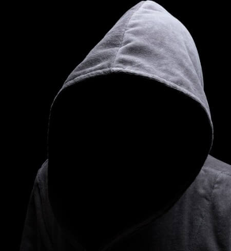 image to represent the anonymity powering negative seo