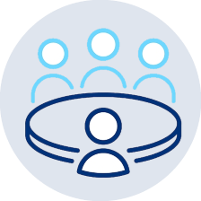 icon to represent digital marketing fact finding meeting