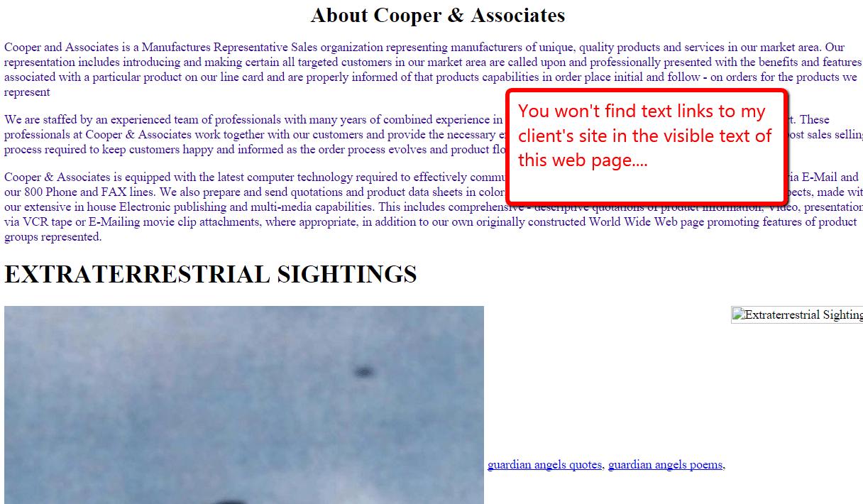 site shot of cooper interior page