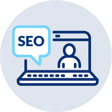 icon illustrating a free seo webinar session