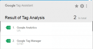 google tag assistant smileys showing google tag manager is working properly