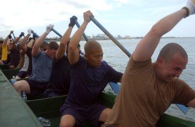 Navy boatment illustrating SEO teams