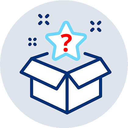 icon for what's inside the box section